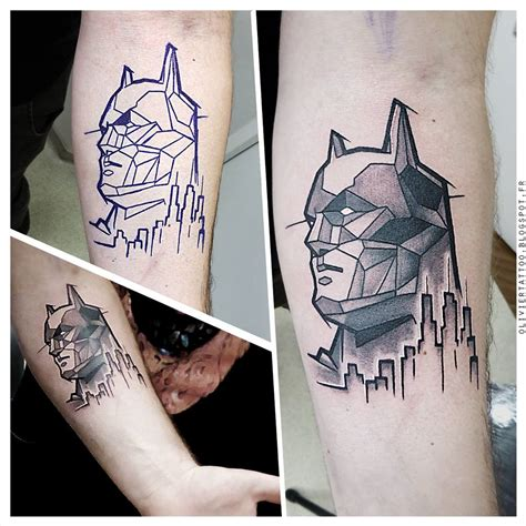batman dog tattoo black and grey batman tattoo by roque mendez