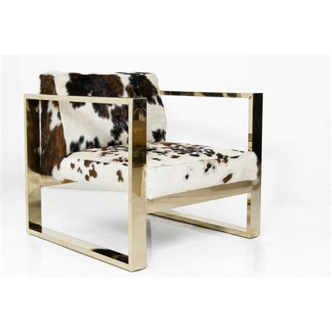 Modern Cowhide Chair - navy animal print chair products bookmarks design