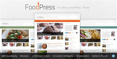 blog theme in themeforest foodpress a recipe food blog themeforest wp theme