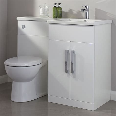 bathroom vanity units b q cooke lewis ardesio gloss white rh vanity toilet pack