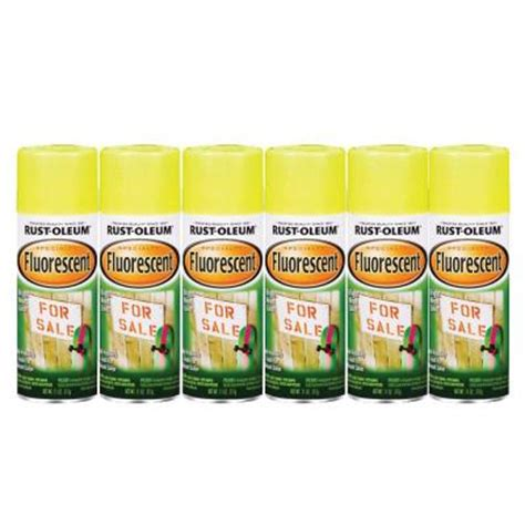 home depot spray paint yellow rust oleum specialty 11 oz yellow fluorescent spray paint