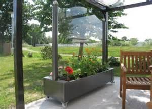 mobiler wintergarten die besten 17 ideen zu windschutz glas auf
