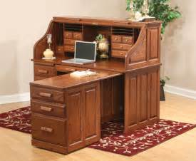computer roll top desk with pull out return from
