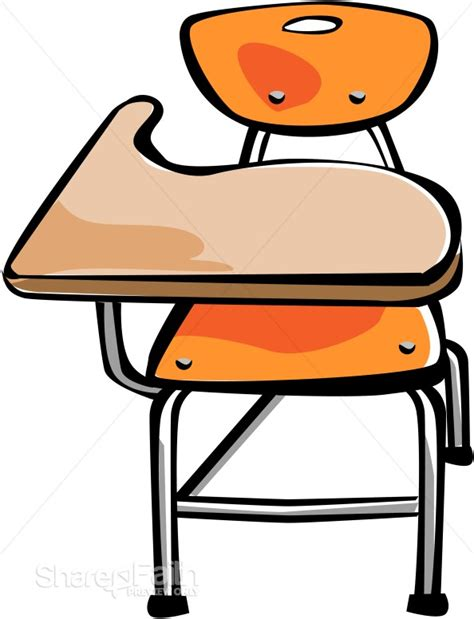Orange Student Desk Christian Classroom Clipart Student In Desk Clipart