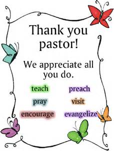 Thank You Letter To A Pastor Thank You Pastor