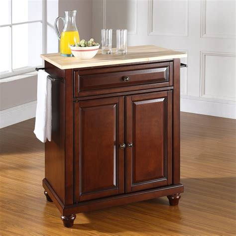 shop crosley furniture brown craftsman kitchen island at lowes