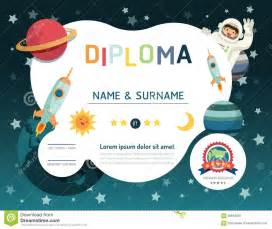 certificate kids diploma kindergarten template layout