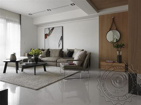 chinese modern minimalist living room interior design 3d japan style living room rendering design modern minimalist