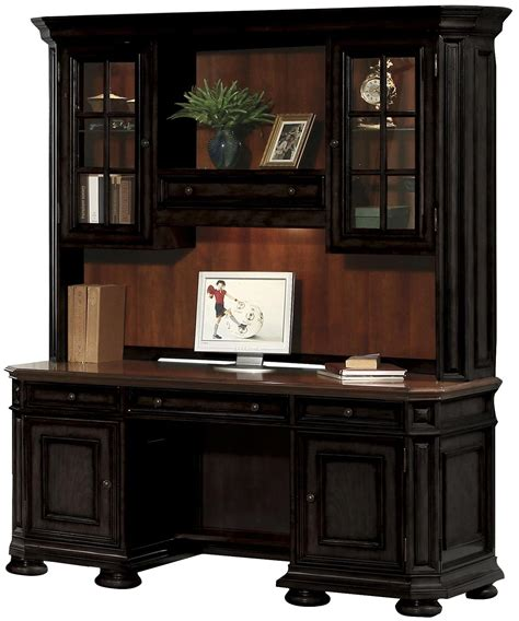 credenza desk with hutch credenza and hutch by riverside furniture wolf and
