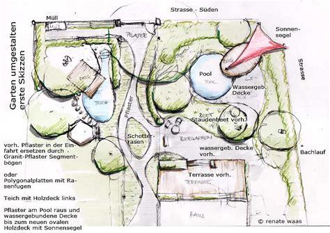 Garten Gestalten Zeichnen by Gartenblog Geniesser Garten Gartenumgestaltung Teil 1