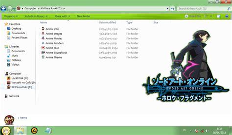download themes windows 7 kirito kirito sword art online windows 7 theme