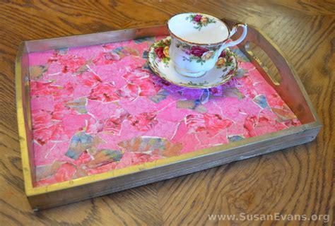 decoupage tutorial photo decoupage a breakfast tray with video tutorial susan