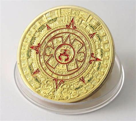 O Calendario Da Profecia Moeda De Ouro Banhada Calend 225 Asteca Ou Profecia Maia