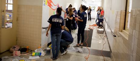 Cbell Completes Community Service by Gw Completes 251 868 Community Service Hours Gw Alumni News
