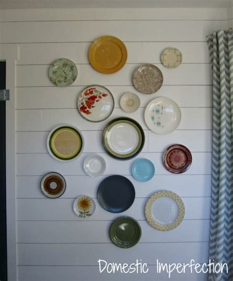 home made decor make your own plate hangers my dining room plate wall