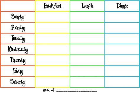 free menu planner template free printable weekly dinner planner template calendar