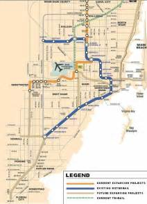 Miami Metro Rail Map by A Map Of Miami Metrorail Showing The Planned Orange Line