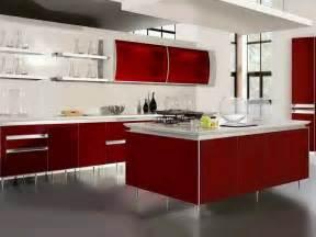 ordinary Red White Kitchen Ideas #1: Modular-Red-Kitchen-Design-Idea.jpg
