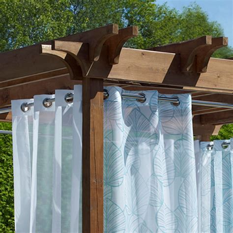 tension rods for outdoor curtains indoor outdoor duo tension rod set 28 quot to 120 quot
