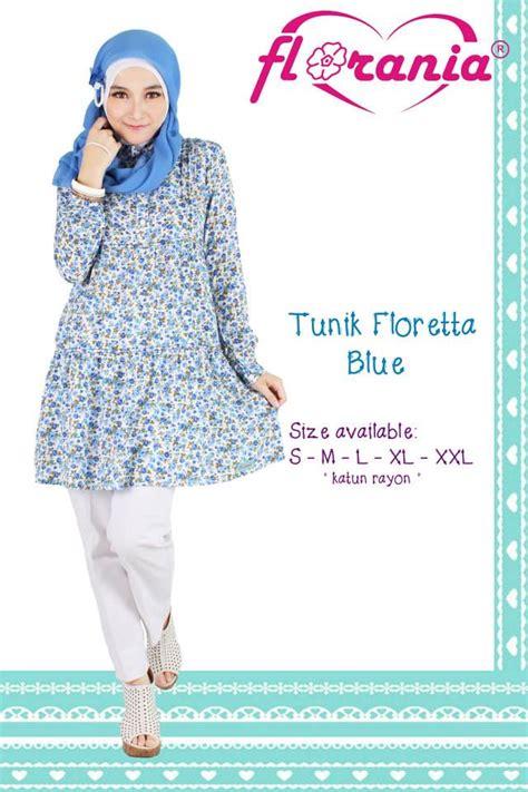 Fariza Tunik Katun 2 Warna baju muslim model terbaru 2018 baju atasan tunik