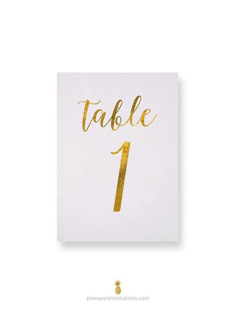 gold wedding table numbers octavia gold foil table numbers gold table number cards