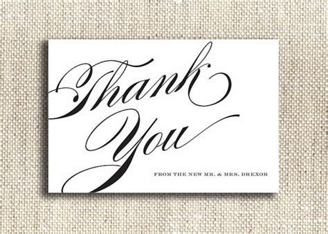 printable wedding thank you card template 8 best images of thank you cards printable black and white