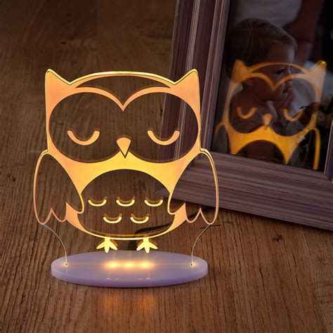 pictures of night lights girls and boys remote controlled owl night light by