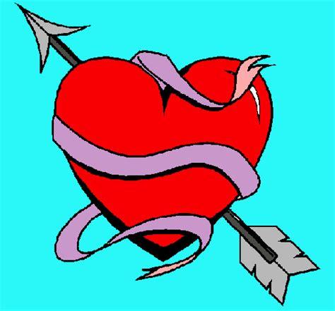imagenes de amor para dibujar pintados dibujo de coraz 243 n con flecha pintado por amor en dibujos