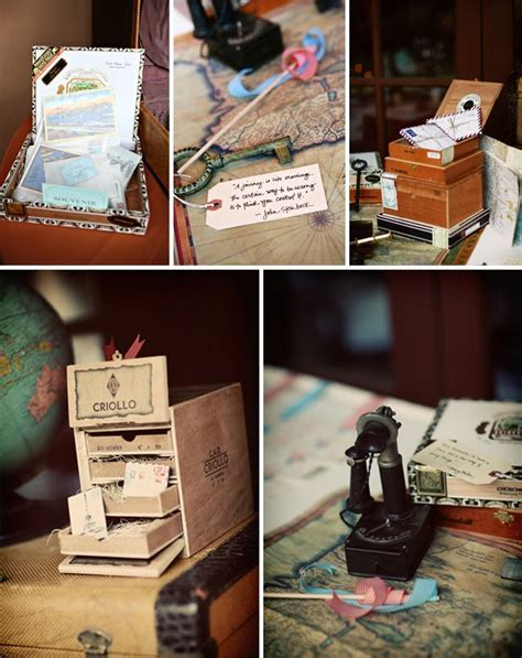 let s fly away together travel theme wedding ideas