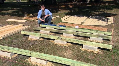 how to build a shed foundation with your own