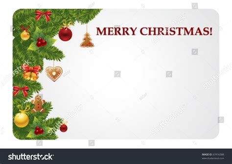 christmas gift card stock vector 67416388 shutterstock