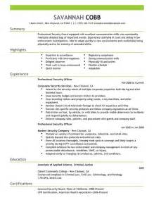 Best Resume Format Security Guard Resume Resume Format Download Pdf