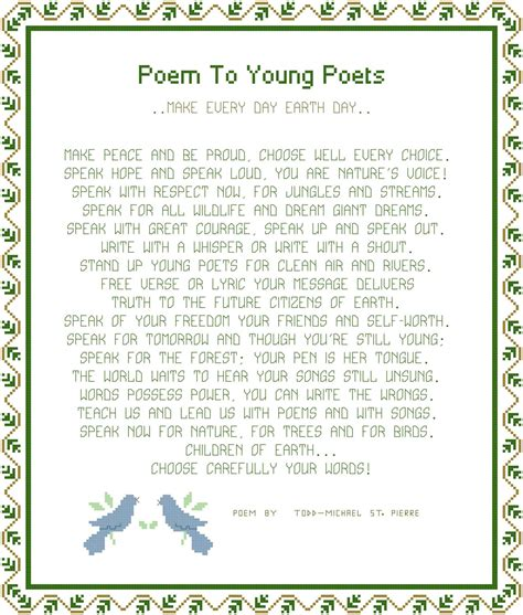 pattern seven poem exles poem to young poets pattern chart graph