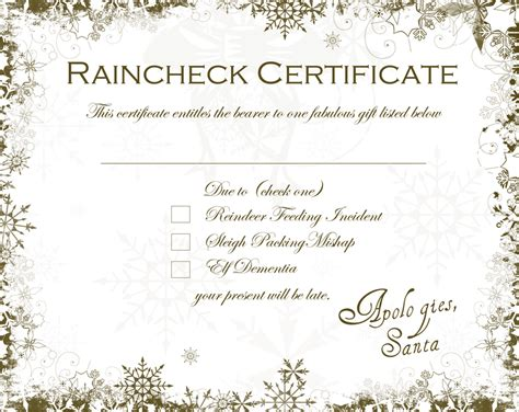 Late Gift Letter From Santa santa raincheck certificate free downloadable dabbled