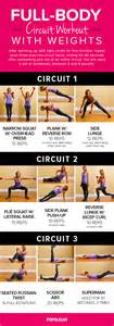 circuit workout poster popsugar fitness