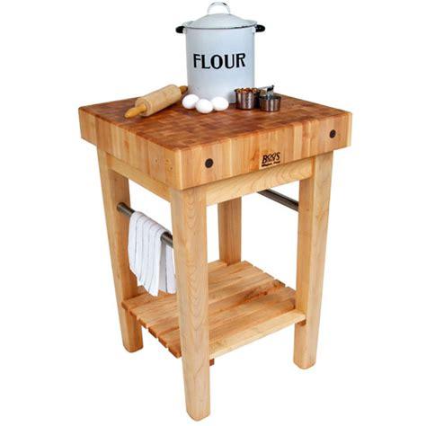 Kitchen Island Cart With Pot Rack Boos Pro Prep Butcher Blocks With Optional Pot Racks