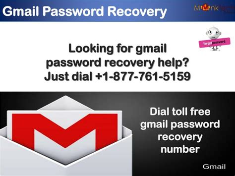 gmail password reset ppt recover gmail password by dialing 1 877 761 5159