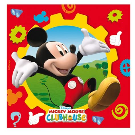 mickey mouse clubhouse mickey mouse clubhouse luncheon napkins disney from all
