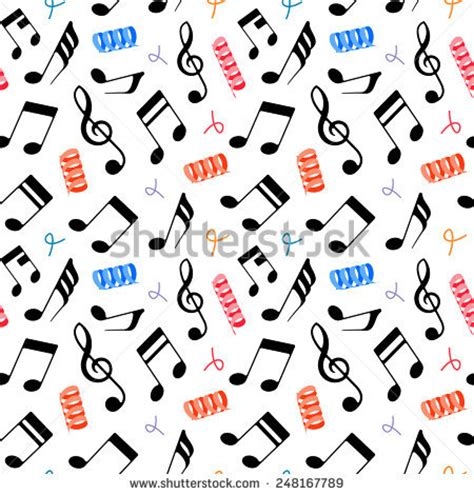 design pattern short notes vector seamless music pattern eps 10 stock vector