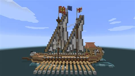 boat with oars minecraft minecraft architecture