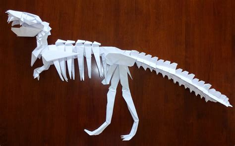origami t rex skeleton 348 t rex skeleton setting the crease