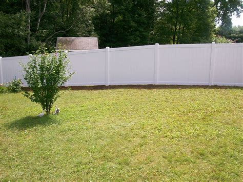 backyard vinyl fence vinyl fence photos bravo fence chainlink fences aroostook