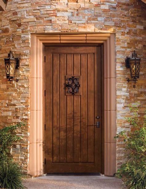 Rustic Front Doors Jeld Wen Custom Fiberglass A1301 Mahogany Woodgrain Door Finish Rustic Front Doors