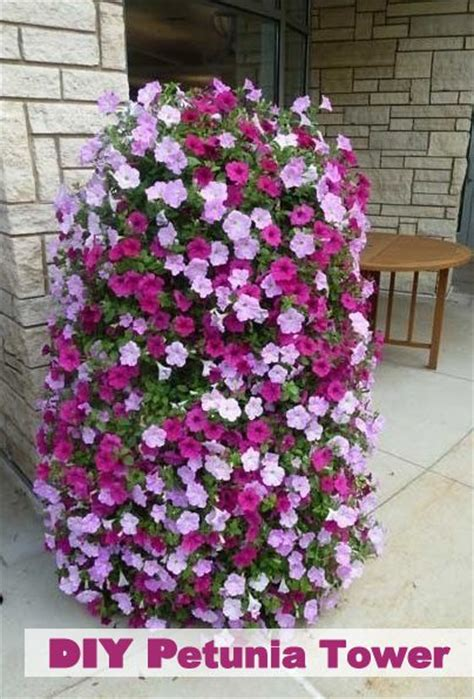 Landscape Fabric Diy The 25 Best Flower Tower Ideas On Address
