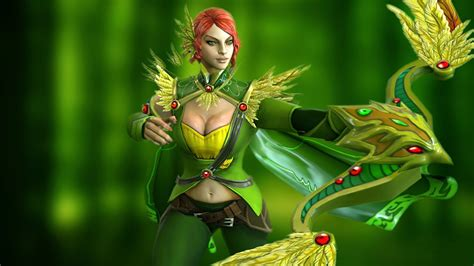 video game dota  gallery windranger shooter forest girl