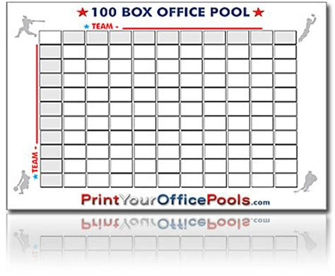 Are Office Football Pools In New York Reusable 100 Box Square Block Office Pool Ebay