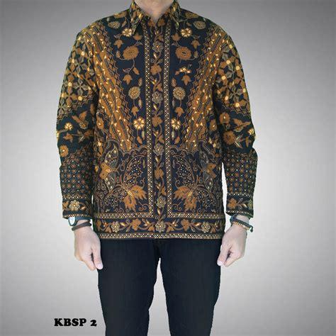 Kain Batik Sogan Sinaran 2 kemeja batik sogan pria motif sinaran kbsp 2 batik prasetyo