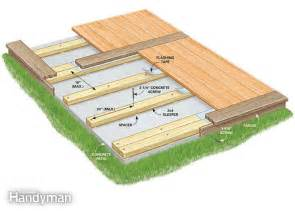 how to build a deck on concrete patio how to build a deck a concrete patio the family