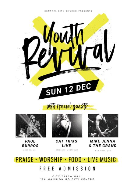 Youth Revival Church Event Template You And Free Printable Flyers For Church Professional High Free Printable Church Event Flyer Templates