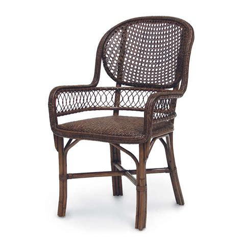 wicker benches furniture palecek antique cane arm chair 7105